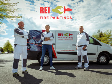 REI Fire paintings Branding Hasselt